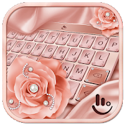 Pink Rose Gold Keyboard Theme 6.4.27.2019 Android for Windows PC & Mac