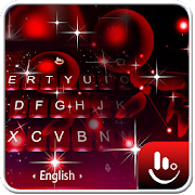 Live 3D Sparkling Red Star Keyboard Theme 6.2.23.2019