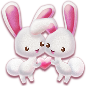 Love Rabbit Theme - Kawaii Cute Bunny Comic Theme  Latest Version Download