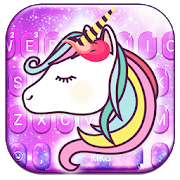 Adorable Galaxy Unicorn Keyboard Theme  APK 1.0
