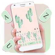 Cute Cartoon Cactus Keyboard Theme  APK 1.0