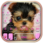 Cute Tongue Cup Puppy Keyboard Theme  APK 1.0