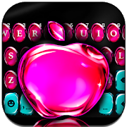 OS11 Glass Pink Apple Keyboard theme  APK 1.0