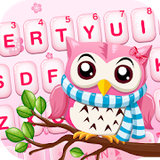 Pink Cute Owl Keyboard Theme  APK 1.0