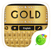Gold Luxury Go Keyboard Theme For PC