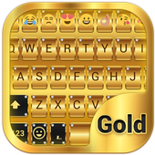 Gold Emoji Keyboard Theme Latest Version Download