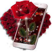 3D Love Red Rose Glitter Theme  in PC (Windows 7, 8 or 10)