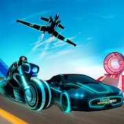 Tron Bike Stunt Transform Car Driving Simulator