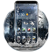 3D Rain Broken Glass Theme  Latest Version Download