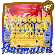 Armenia Keyboard Animated 7.0 Navy Blue Android for Windows PC & Mac