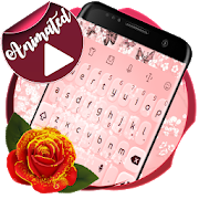 Pale pink Keyboard Animated  Latest Version Download