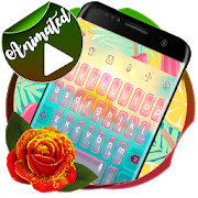 Tropical paradise Keyboard Animated  APK v8.0 Burnt Yellow (479)