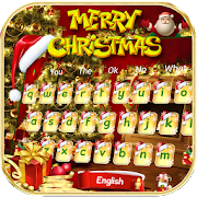 Download Gold Christmas Keyboard Theme  10001002 APK File for Android
