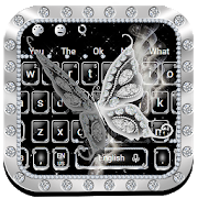 Luxury Diamond Butterfly Keyboard Theme  Latest Version Download