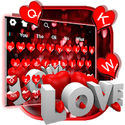 Red Glitter Love Keyboard  For PC