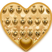 Golden Love Theme&Emoji Keyboard 2.7 Android for Windows PC & Mac